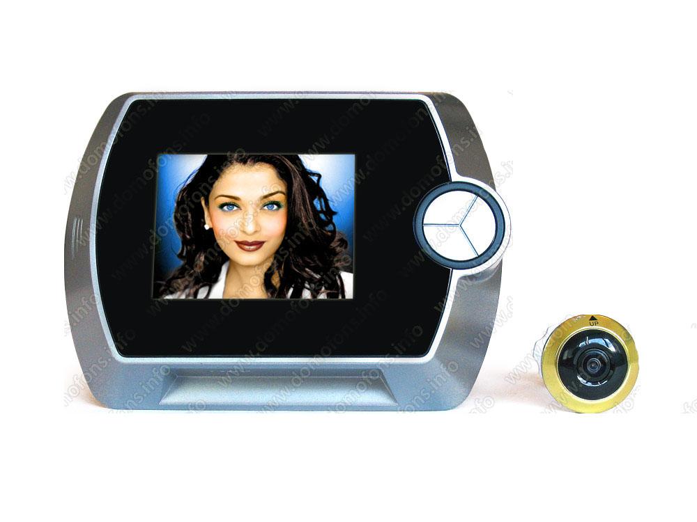 Дверной видеоглазок с 2,5 дюймовым lcd экраном, угол обзора 100 градусов для дверей толщиной 35-50 мм (модель 601a)