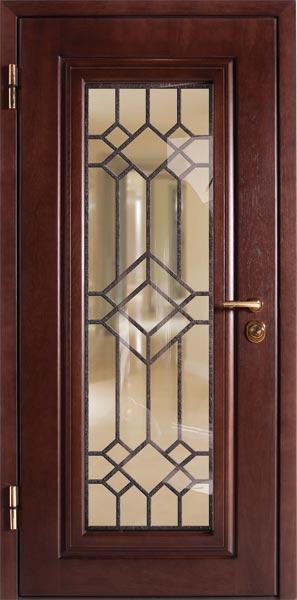 стальные двери со встроенным стеклопакетом
